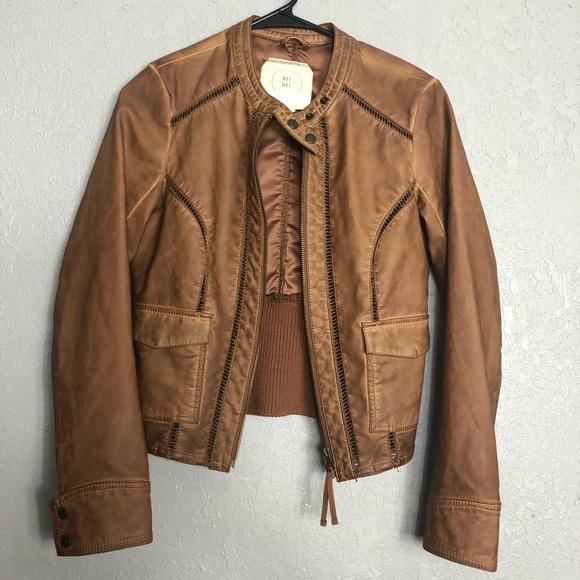 9a5dfceb4 Hei Hei anthropology vegan leather jacket